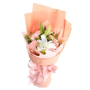 8枝粉色康乃馨/健康平安-订花人鲜花