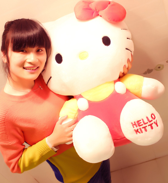 43cm正版hello kitty 草莓kt�P蒂/生日�Y物-�花人�r花