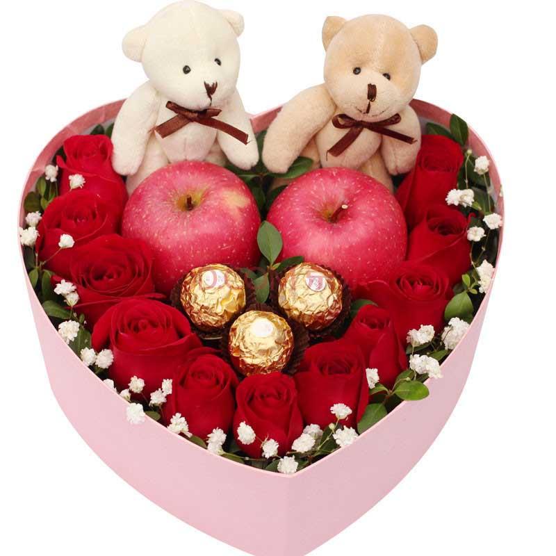 圣诞鲜花/11朵红玫瑰-订花人鲜花