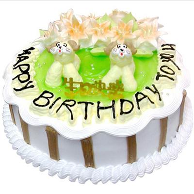 鲜奶蛋糕/童真年代-订花人鲜花