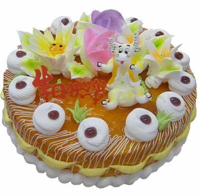 鲜奶蛋糕/牛牛的欢乐时光-订花人鲜花