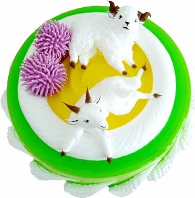 鲜奶蛋糕/羊羊的快乐世界-订花人鲜花