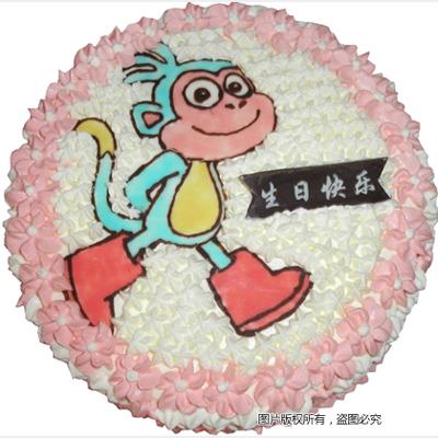 �r奶蛋糕/小猴���-�花人�r花