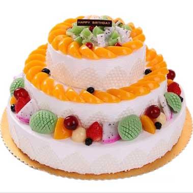 鲜奶水果蛋糕/美梦成真-订花人鲜花