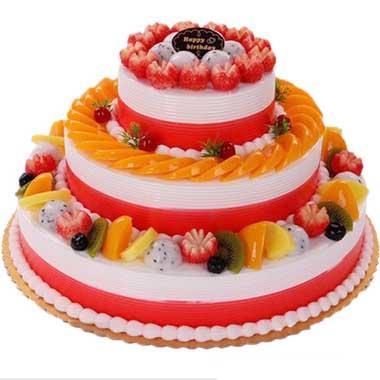 �r奶水果蛋糕/嫣然�垡�-�花人�r花