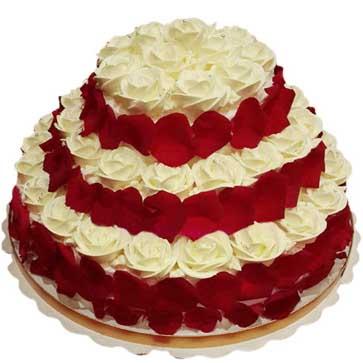 鲜奶水果蛋糕/幸福牵手-订花人鲜花