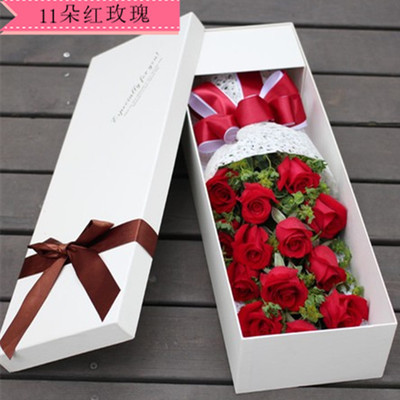 礼盒/11枝红玫瑰-订花人鲜花