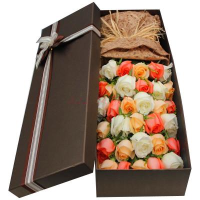 礼盒/33枝玫瑰-订花人鲜花