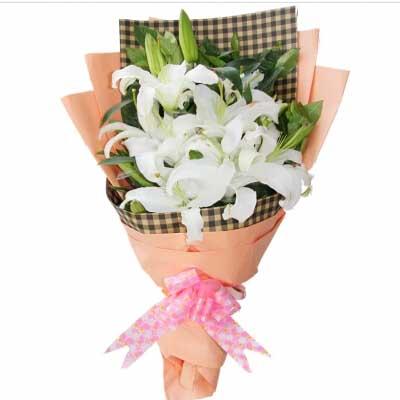 无尽的爱/6枝白百合-订花人鲜花