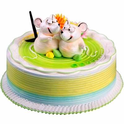鲜奶蛋糕/相偎相依-订花人鲜花
