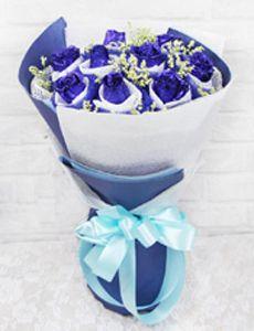 9枝蓝玫瑰/转角遇见爱