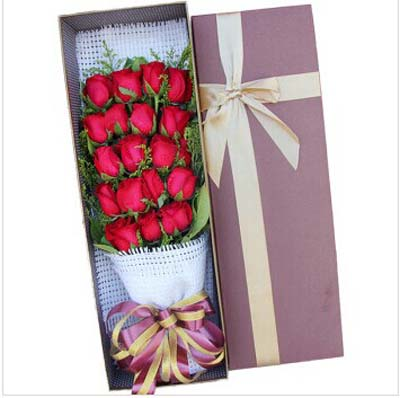 19枝红玫瑰/陪伴你-订花人鲜花