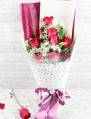 9枝红玫瑰/心的芬芳