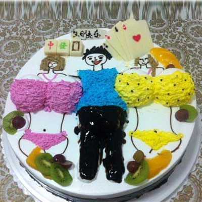 情趣蛋糕/左拥右抱-订花人鲜花
