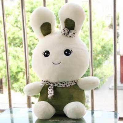 毛绒玩具/长耳乖乖兔-订花人鲜花