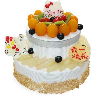 双层儿童蛋糕/雪国梦幻-订花人鲜花