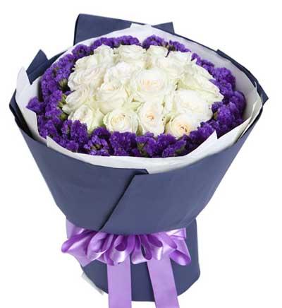 19枝白玫瑰/如初-订花人鲜花