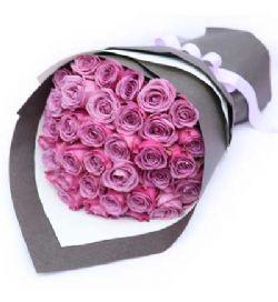 36枝紫玫瑰/醇美绽放