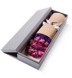 礼盒/11枝紫玫瑰遇见最美的你