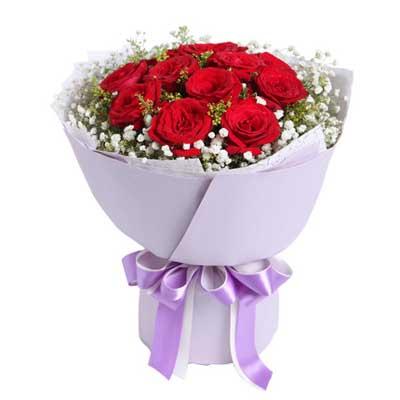 11枝�t玫瑰/致美��的你-�花人�r花