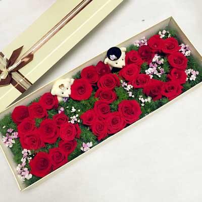 �Y盒/33枝�t玫瑰520