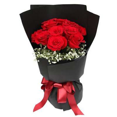 11枝红玫瑰/黑夜之光-订花人鲜花