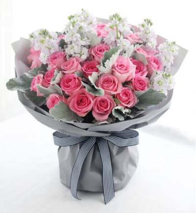 33枝粉玫瑰/幸福的约定-订花人鲜花